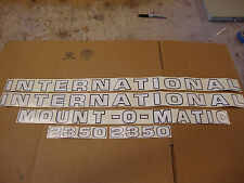 2350 International Tractor 2350 Loader Decals Mount O Matic