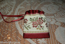 AMERICAN GIRL FELICITY MEET PURSE Tagged PLEASANT CO! DRAWSTRING BAG FLOWERS