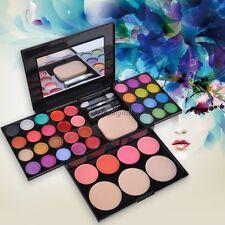 Fashionable Full Color Eyeshadow Blusher Lipstick Makeup Palette Kit Tools 35DI