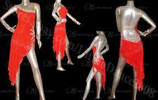 LATIN  SALSA BALLROOM COMPETITION DANCE DRESS WITH HIGH QUALITY RHINESTONES M154