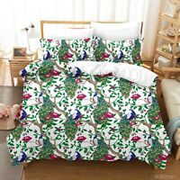 3D Cartoon Tree Animal Peacock Quilt Cover Sets Pillowcases Duvet Comforter