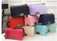 Women's Zipper Bags Leather Quilted Shoulder Messenger Bag New Chain Bags UK