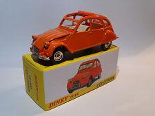 Citroen 2cv orange - ref 011500 au 1/43 dinky toys atlas