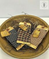 Primitive Country Cinnamon Scented Fabric Sample Bowl Fillers 3 pc set Homespun
