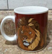 "Otagiri ""The Lion"" Japan Ceramic Coffee Cup Mug Signed T. Taylor"