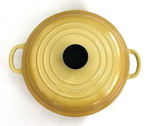 "Yellow Le Creuset #26 Enamel Cast Iron Dutch Oven Braiser W/ Lid•Culinary•10""•"
