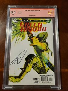 GREEN ARROW YEAR ONE 4 DC COMICS (10/2007) CBCS 8.5 SIGNED BY ANDY DIGGLE