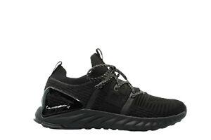 [E92577] Mens Peak Taichi 1.0 Plus Triple Black Flyknit Gym Running Sneakers