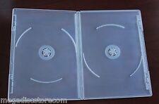 10 Pk Viva Elite Premium 7mm Slim Size DVD Case Double Super Clear 2 Discs Box
