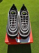 Nike AIR MAX 97 Nero/Argento Metallizzato Volt Da Uomo Taglia UK 11