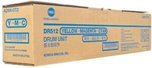Original Konica Minolta A2XN-0TD Drum DR512 TRI COLOUR C M Y *NEW*