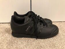 Adidas Originals Samoa Shoes Mens 5.5 Solid Black Lace Up