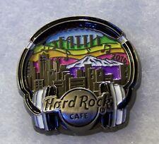 HARD ROCK CAFE SEATTLE 3D PRIDE HEADPHONES CITY SKYLINE & MOUNTAINS PIN # 89902