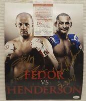 FEDOR EMELIANENKO vs DAN HENDERSON Signed Autograph UFC, MMA, StrikeForce. JSA