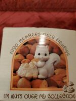 """Precious Moments """"I'm Nuts Over My Collection"""" 1990 Members Only Figurine"""