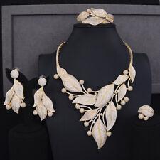4 PCS Noble Symbol for Women Necklace Bracelet Earring Ring Jewelry Set T067S