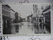 The Great New England Hurricane of 1938 Postcard Athol Mass Under Water