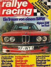 RALLYE RACING mit BMW ALPINA B6 328 E21 Test Testbericht Nummer 12 1978 82