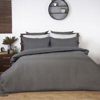 Ardor Boudoir Charcoal Box Quilted Quilt Doona | Duvet Cover set | Designer Look