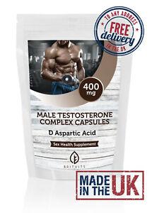 Male Test Formula Testosterone D Aspartic Acid Capsules ✔Made in UK
