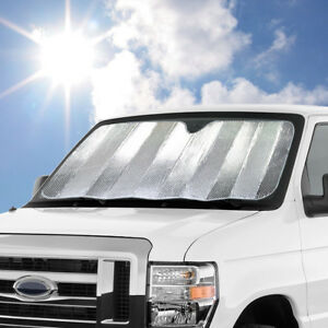 Large Jumbo Size Dual-Layer Sun Shade Reversible for Car Truck SUV Windshield
