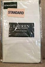 Ralph Lauren Dunham Sateen Chalet Green Standard 100% Cotton 300 TC Pillowcases