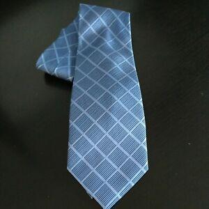 Ciro Citterio Silk Tie Pure Silk blue Square Design