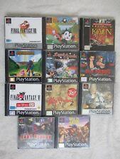 Lot de 11 Jeux Video Rpg Retro Sony Playstation 1 Ps1 (PAL)