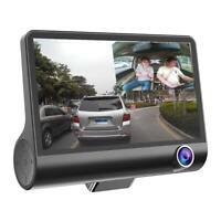 4 inches 1080P HD 170° 3 Lens Car DVR Dash G-sensor Recorder+Rearview Cam