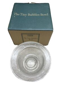 Southern Living at Home Tiny Bubbles Bowl Bubble Glass Footed NIB 40351