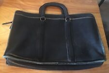 Vintage Coach Briefcase Business Bag Black Leather Made In USA