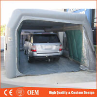 Custom Made Portable Giant Oxford Cloth Inflatable Car Spray Booth Paint Tent