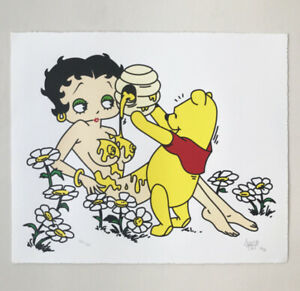 """Ermsy """"HONEY"""" Hand Pulled Screen Print Edition of 50 2020 Signed & Numbered"""