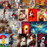 Red Women DIY Paint By Number Kit Digital Oil Painting On Canvas Girl Home Decor