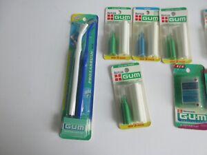 Butler GUM Proxabrush Kit Refills Snap-ons Traveler Lot 13 Old Stock