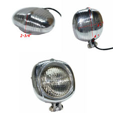 Polish Clear  Vintage Motorcycle Head Light Headlight for Harley Bobber Chopper