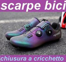 scarpe ciclismo bici corsa mtb chiusura cricchetto 43 44 45 46 look / spd keo