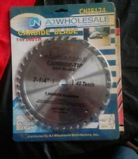 "Sawblade Carbid 7 - 1/4"" AJ Wholesale. Still In Package"