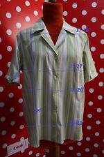 PERSONA MARINA RINALDI plus sz 27 us18 1X eu56 blouse shirt stretch cotton women