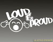 Loud & Proud sticker Shocker Smilie Aufkleber Smiley JDM Domo Sticker ja das 622