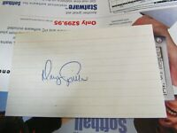 Doug Capilla autographed index card