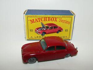 Lesney Matchbox No 65 Jaguar 3.4 Litre Sedan SPW NMIB D Box