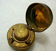Antique traveling inkwell