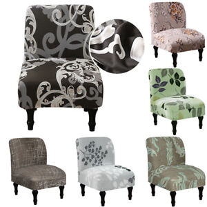 Accent Chair Cover Armless Chair Slipcover Floral Single Seat Sofa Protector