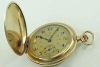 Drusus Vintage Taschenuhr Handaufzug Gold-Double