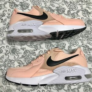 Nike Women's Air Max Excee Running Shoes Dusty Peach White Black CD5432-600 NEW