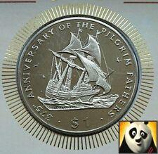 1995 Liberia PILGRIM padri spirito di espansione $1 UN DOLLARO medaglia COVER + COA