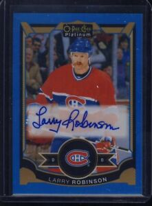 2015-16 UD OPC Platinum LR Larry Robinson  AUTO - Ships From CAN & USA