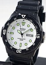 Reloj Nuevo Casio MRW-200H-7EV Hombres Análoga 100m WR Día Fecha Resina