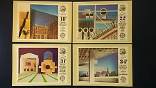 1987 EUROPA. BRITISH ARCHITECTS IN EUROPE STAMPS PHQ CARDS LONDON E.C. F.D.I.